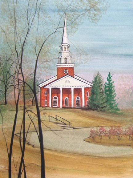 Moss Painting-Harman Chapel