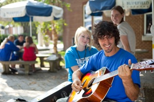 Student Playing Guitar - BC Student Playing Guitar