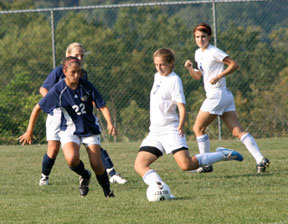 Women's soccer action, fall 2010